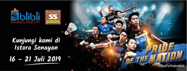 Waroeng SS Hadir di Blibli Indonesia Open 2019