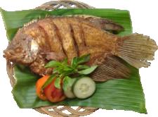 Ikan Gurameh Goreng